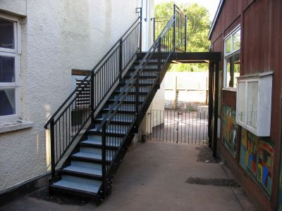 Nice We Also Provide A Full Installation Service On All Our Staircases And Fire  Escapes, We Deliver The Steelwork To Site And We Ensure It Is Installed  Securely ...
