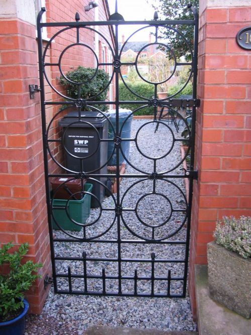 Unique, unusual and very beautiful bespoke fabricated gate in Wellington, Somerset.