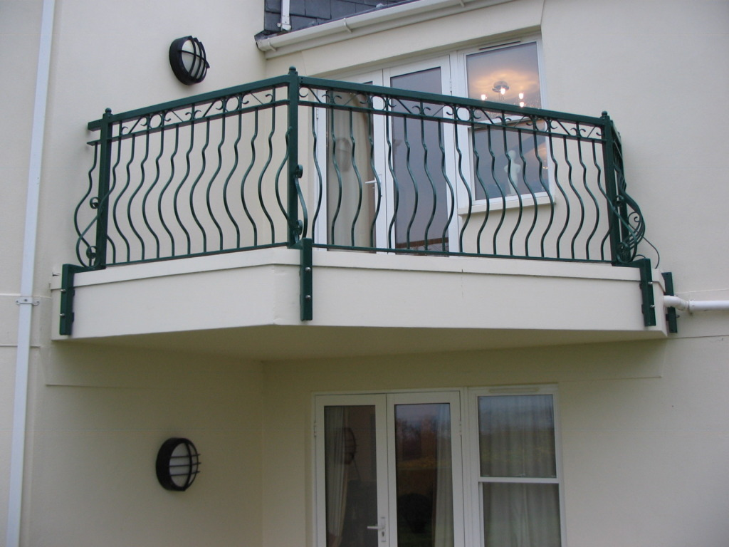 Stylish balcony, repaired, restored, galvanised, powder coated and re installed in Saltash, Cornwall.