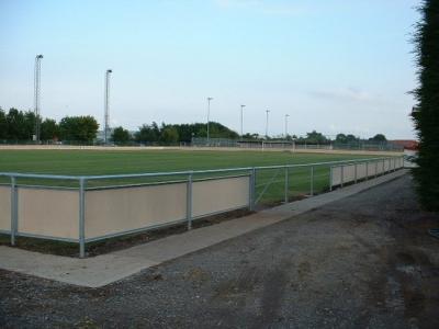 Galvanised steel spectator safety handrail, Bridgewater