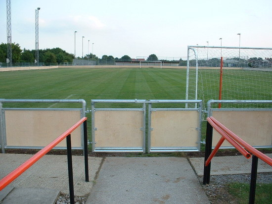 Galvanised steel gates were bespoke fabricated to suit the spectator handrail, Bridgewater