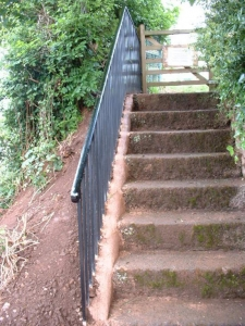 Bespoke fabricated steel safety railing for Mid Devon District Council, Cullompton.