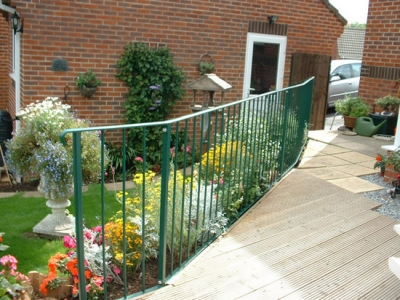 Fabricated railing for garden decking, Honiton, Devon