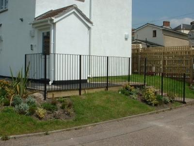 Fabricated steel garden hand railing, Honiton, Devon