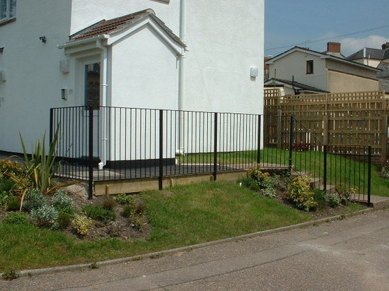 Fabricated steel garden hand railing, Honiton, Devon