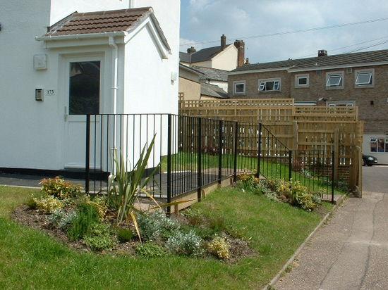Fabricated and installed mild steel garden hand railing, Honiton, Devon