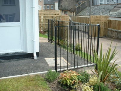 Fabricated garden handrailing for garden, Honiton, Devon