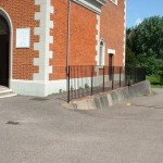 Fabricated safety handrail for a church, Exeter, Devon
