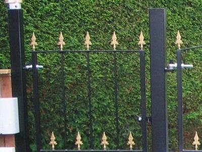 Pedestrian garden gate, fabricated in mild steel, Devon.