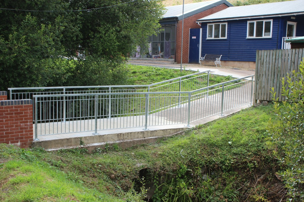 Walkway safety handrails, bespoke fabricated from mild steel, galvanised finish for the RSPCA in Exeter.